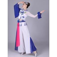 新款青花瓷演出舞蹈服装中国风民族古筝古典扇子秧歌表演礼服女装