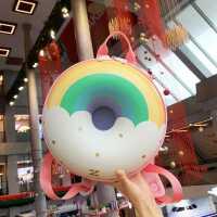 优仅ALLJOINT儿童书包可爱幼儿园双肩甜甜圈彩虹幼儿背包女童包包