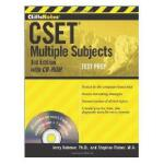 【预订】Cliffsnotes Cset: Multiple Subjects With Cd-Rom, 3Rd