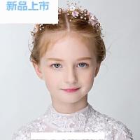 2018花童头饰发箍儿童表演花环女童公主发饰婚纱礼服新年演出配饰