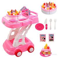 儿童过家家厨房玩具套装蛋糕推车组 切切乐手推车3岁女孩女童玩具