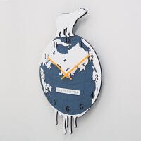 a钟表欧式挂钟客厅个性艺术大号时钟卧室静音石英钟