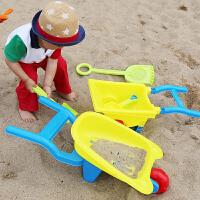 宝宝玩沙子挖沙漏铲子工具决明子儿童大号沙滩推车玩具车套装