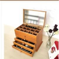 木质首饰盒欧式实木手饰盒首饰收纳盒抽屉式绒布多层首饰箱 2款