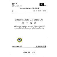 DL/T 5269―2012 水电水利工程砾石土心墙堆石坝施工规范