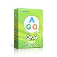 顺丰包邮 问答系列 英文原版卡牌游戏 AGO Q&A Box Set: Level 2 Green 绿卡(2级) 英语