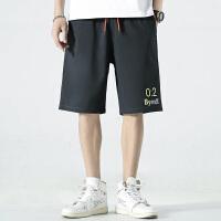 夏季新款短裤男休闲裤五分裤运动透气潮流宽松印花裤子直筒大码