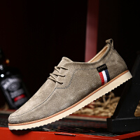 DAZED CONFUSED 潮牌夏季男板鞋磨砂皮透气软底系带卡其色复古潮鞋韩版日常休闲鞋