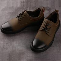 承发 休闲男复古系带耐磨擦色男士皮鞋子 26110