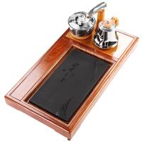功夫茶茶盘电磁炉一体茶几自动排水中式复古乌金石嵌入式茶台