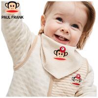 TWA3177474大嘴猴(Paul Frank) 婴幼儿口水兜围嘴小主播口水巾三角巾38x16cm4条/袋