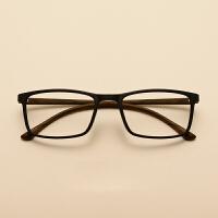 新款轻盈TR90近视眼镜架 男女潮款方形眼镜框 配防蓝光镜片