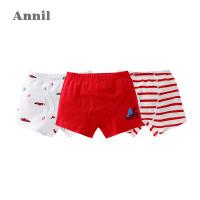 【活动价:128】安奈儿童装男童平角底裤三件装2019新款