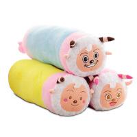 可爱圆柱抱枕喜洋洋美羊羊悠嘻猴糖果抱枕圆枕头靠垫靠枕靠背 1对装图案随机