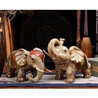 陶瓷大象摆件家居客厅玄关电视酒柜装饰品摆设创意工艺品开业礼品