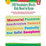 240 Vocabulary Words 6th Grade Kids Need to Know 六年级学生应掌握的2