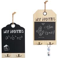 留言黑板餐厅墙壁装饰品门口钥匙架奶茶店墙面上壁挂件