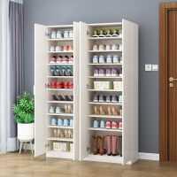 实木鞋柜家用大容量门口经济型木质特价省空间阳台储物柜多层鞋架