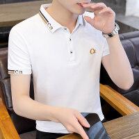 POLO短袖 2021夏季新款男款韩版潮流衬衫领POLO衫短袖 Y712男装92782