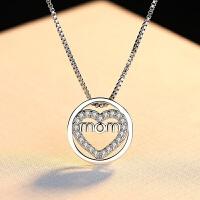 s925银项链女简约人造珍珠装饰锁骨链气质颈链学生日礼物 项链 D-273