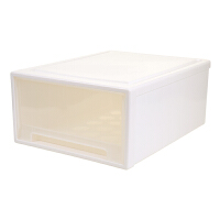 透明衣物整理箱衣服收纳柜大号塑料储物箱衣柜收纳盒 46L 48*45*22.5CM 1个装巨无霸