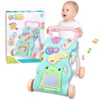 婴儿学步手推车可调速婴儿学步车手推车0-2岁宝宝多功能音乐可调速助步车画板玩具