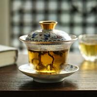 耐热玻璃家用泡茶碗功夫茶具透明泡茶器