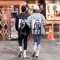 新款男士韩版宽松牛仔衣夹克外套男装个性风学生秋季潮流街拍学院