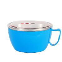 【当当自营】欧橡 304不锈钢泡面碗带盖大号学生便当盒方便面碗带柄防烫大容量 OX-C134
