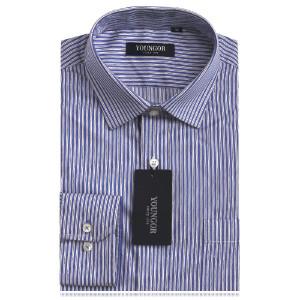 YOUNGOR雅戈尔男正品春款 蓝色商务正装免烫修身长袖全棉衬衫DP14810-22Y
