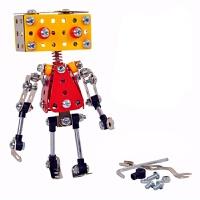金属拼装积木机器人直升机模型组装合金玩具DIY手工飞机男礼物68儿童节礼物