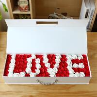 香皂花 情人节礼品 手提520玫瑰香皂花礼盒生日礼物永生花创意