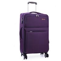 拉杆箱万向轮帆布28寸24大容量旅行箱密码行李箱牛津布男女登机20 深紫色 3019