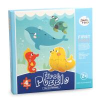 美乐 儿童拼图纸质拼版动物益智玩具0-3-岁卡通创意宝宝幼儿拼图