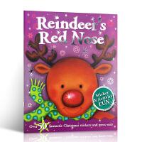 英文原版Christmas Fun: Reindeer's Christmas 圣诞快乐:驯鹿的圣诞节 0-3-6岁幼