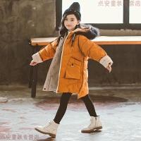 女童棉衣中长款2019新款韩版儿童加厚中大童小孩棉袄冬装外套