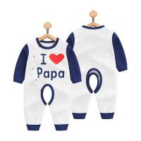 婴儿连体衣春秋开档0纯棉哈衣3男童1岁女宝宝睡衣6个月新生儿衣服