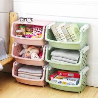 厨房置物架落地多层收纳箱简易塑料用品用具小百货整理收纳筐架子