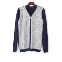 男装秋冬季男士V领针织衫开衫外套韩版修身长袖毛衣男潮