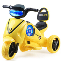 新款儿童电动三轮摩托可坐人儿童电动车带灯光音乐宝宝玩具车可坐骑兜风三轮电瓶车
