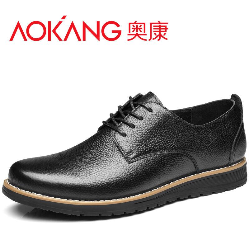 奥康男鞋 春季新款真皮男士皮鞋男商务男鞋休闲鞋舒适透气单鞋子