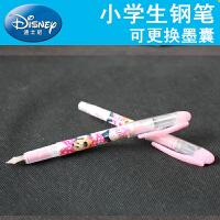 Disney/迪士尼DM0496 蓝色墨囊钢笔套装/长杆 女孩/粉色笔杆小学生用可擦钢笔可换墨囊正姿练字蓝墨水学习文具