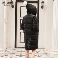 羽绒服女拉夏贝尔新款秋冬季中长款过膝宽松韩版修身时尚外套