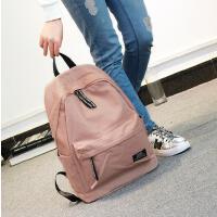 双肩包女韩版小清新学院风旅行背包时尚简约纯色书包中学生女百搭