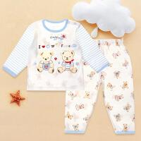 婴儿夏装宝宝空调服薄款婴幼儿内衣睡衣夏季