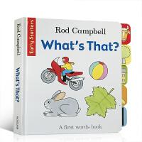【全店300减100】英文原版 What's That 低幼启蒙纸板书 Dear Zoo同作家Rod Campbell