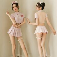 性感睡衣可爱护士制服情趣内衣骚透视文胸短裙诱惑丝袜超骚睡裙女护士制服