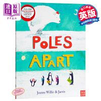 【中商原版】Jeanne Willis :天壤之别 Poles Apart! 精品绘本 有声故事书 亲子绘本 企鹅 北极