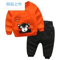 儿童运动套装 春装2018新款童装宝宝卡通卫衣男童休闲长裤两件套