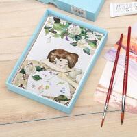 鲁本斯棉浆水彩纸明信片300g 20张盒装纸手绘卡片DIY空白明信片